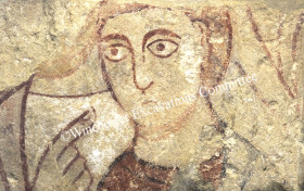 Anglo-Saxon wall painting from New Minster, later 9th century