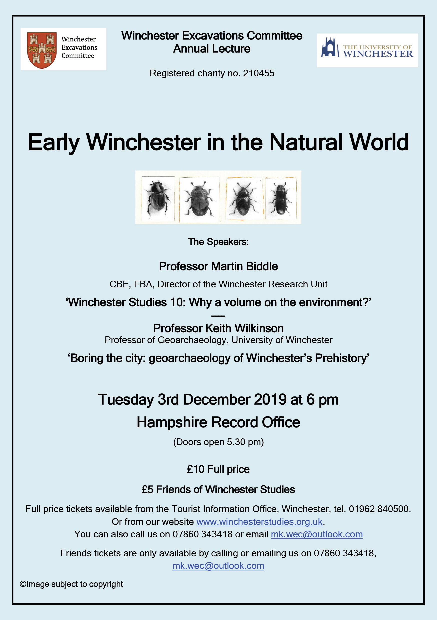 Winchester Excavations Committee Annual Lecture